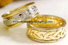 Celtic Claddagh wedding rings